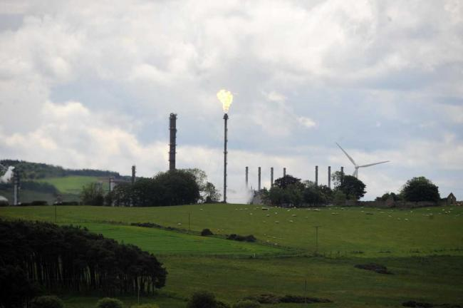 There is flaring at Mossmorran again after a 'significant process outage'.