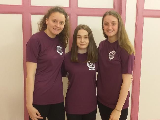 Ellie Turner, Jacqueline McMillan and Morven Lister will compete at the championships next week.