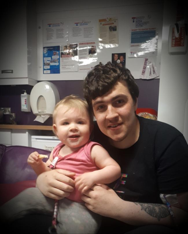 Rosyth dad Dean Falconer and his daughter Maci.
