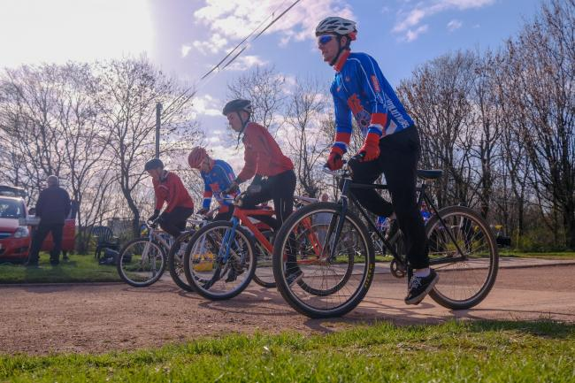 Fife Revolutions cycle speedway openers 2019. Photo: Jim Payne.