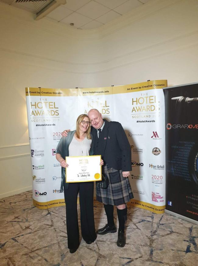 The hotel was named South East Hotel of the Year at the recent Scottish Hotel Awards