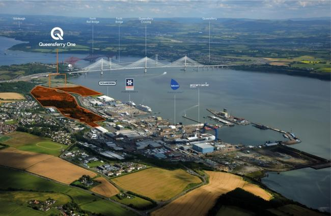 Amazon will open a lorry park at the £250 million Queensferry One development in Rosyth.