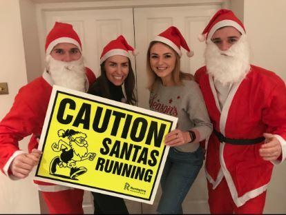 Santas ready for their annual Dunfermline dash