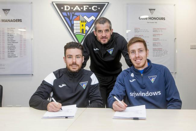 Ryan Dow (left) and Lewis Martin have agreed extensions to their contracts