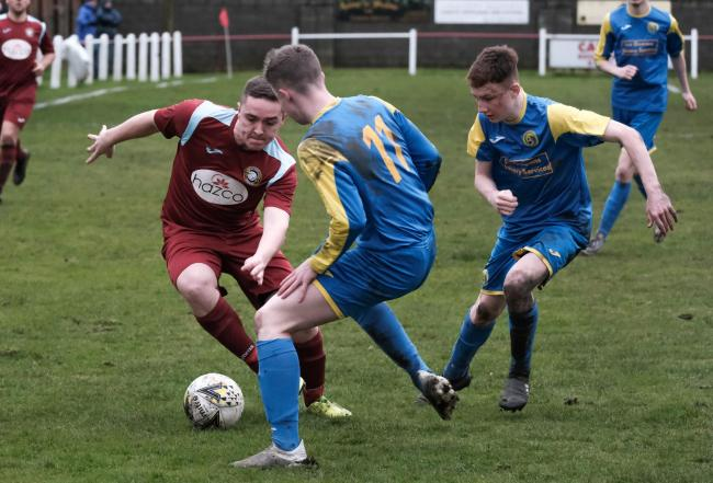 Swifts, in action against Oakley United before lockdown, have been promoted. Photo: Jim Payne