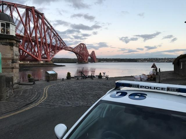 Police said motorists are revving engines and urinating in public in North Queensferry.