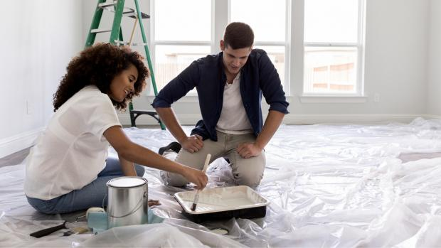 Dunfermline Press: Prepping your workspace with a drop cloth or plastic covering is a key part of the process. Credit: Getty Images / SDI Productions