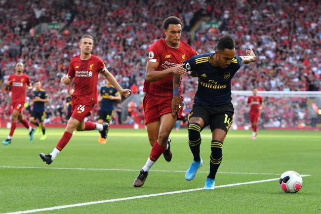 Liverpool's Trent Alexander-Arnold (centre) and Arsenal's Pierre-Emerick Aubameyang have impressed this season