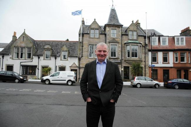 John McTaggart outside the Woodside in Aberdour(c) David Wardle