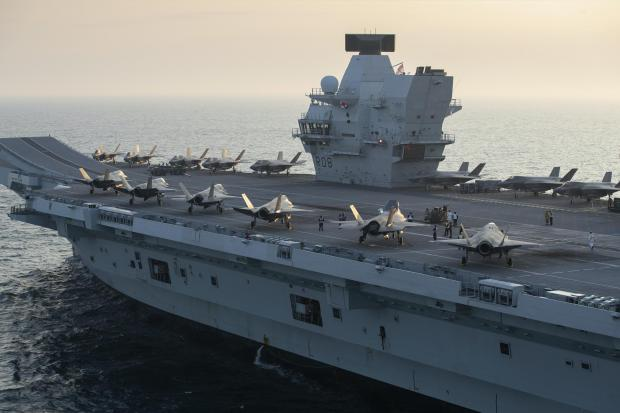 Dunfermline Press: Two squadrons of F-35B stealth jets aboard the Royal Navy carrier HMS Queen Elizabeth