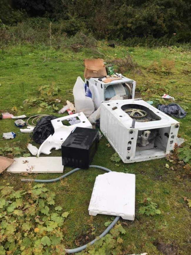 The flytipping in Inverkeithing.