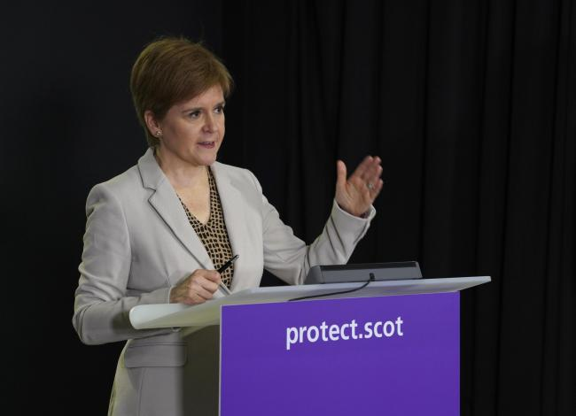 Nicola Sturgeon said the travel ban was necessary to avoid a national lockdown