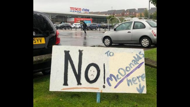 A new group, Duloch Against McDonald's, has organised a protest at the Tesco Extra store in Duloch for Sunday October 18.