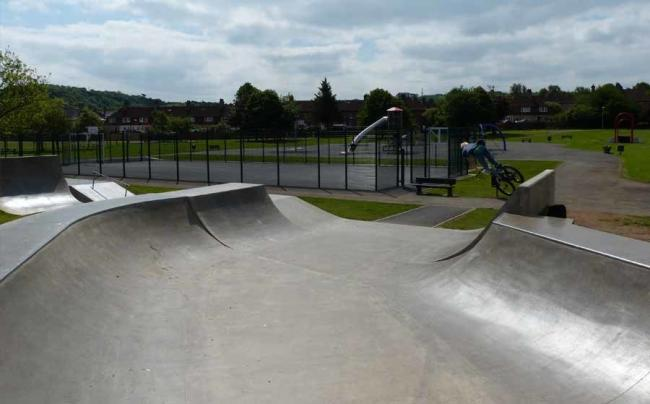 The current Rosyth Skatepark.