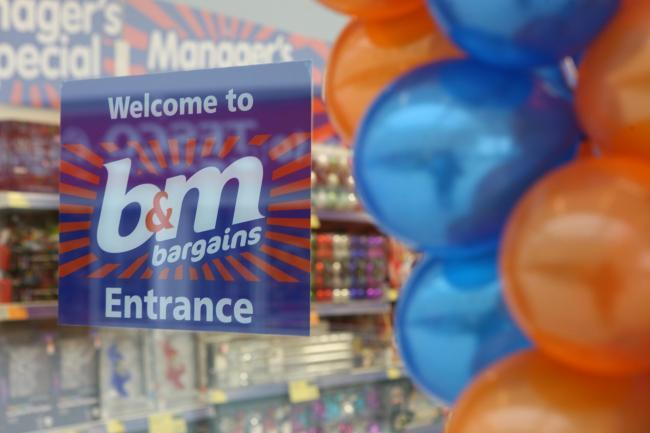 B&M workers who have been with the company since March are to be rewarded for their efforts during the coronavirus pandemic. Pic: Jason Lock Photography