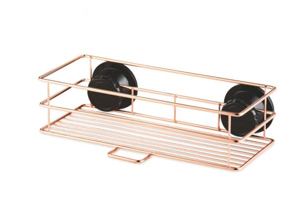 Dunfermline Press: Rose Gold Shower Basket. (Aldi)