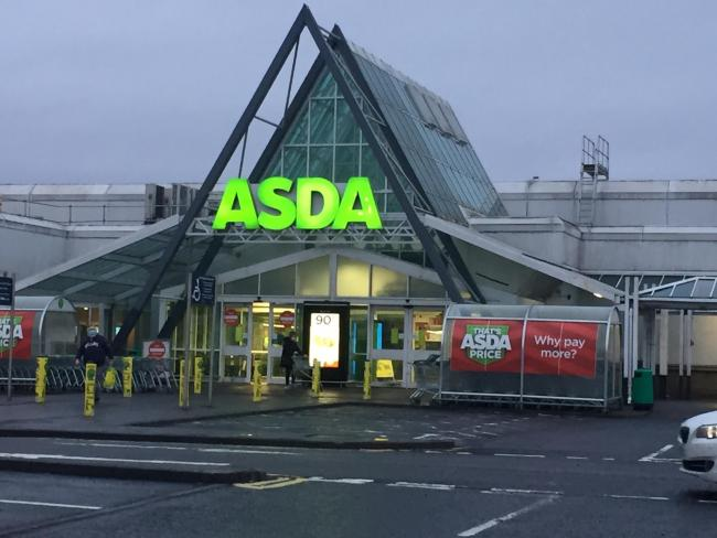 The TV was stolen from Asda's Halbeath store