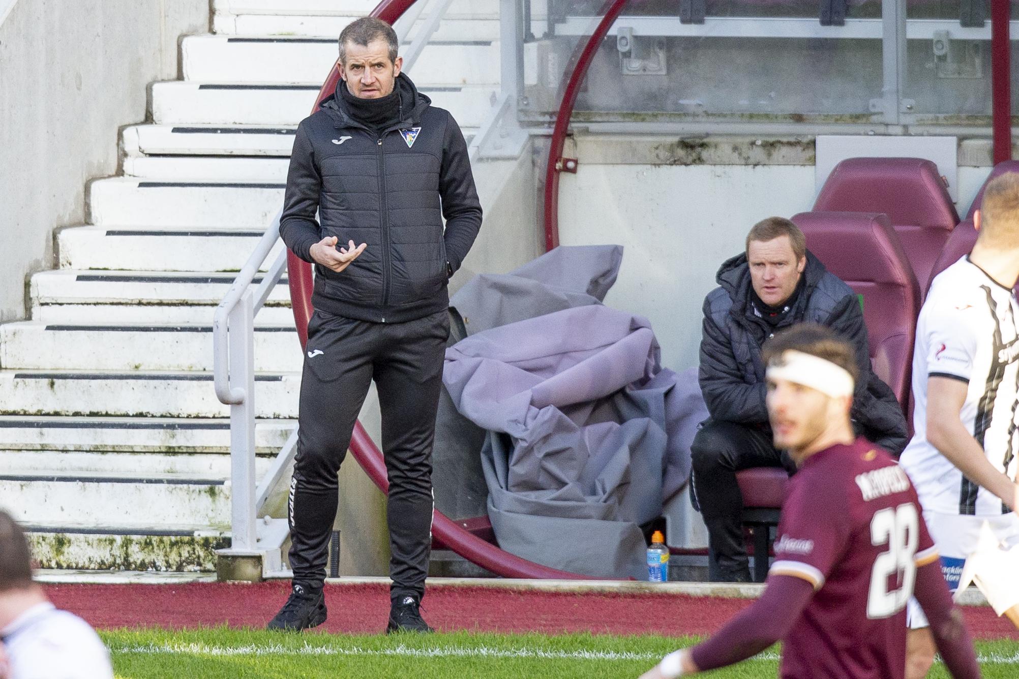 Hearts v Dunfermline: Robbie Neilson & Stevie Crawford react