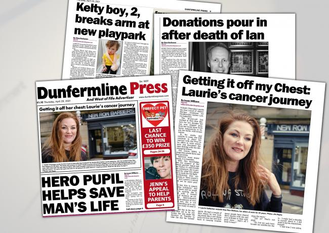 Don't miss tomorrow's Dunfermline Press!
