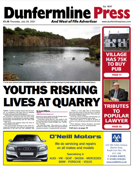 Dunfermline Press: Eight-page puzzles and Foodie pull-outs in tomorrow's paper