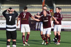 Kelty Hearts defeated Ashfield 7-1 in the third round to set up the potential derby with Hill of Beath.