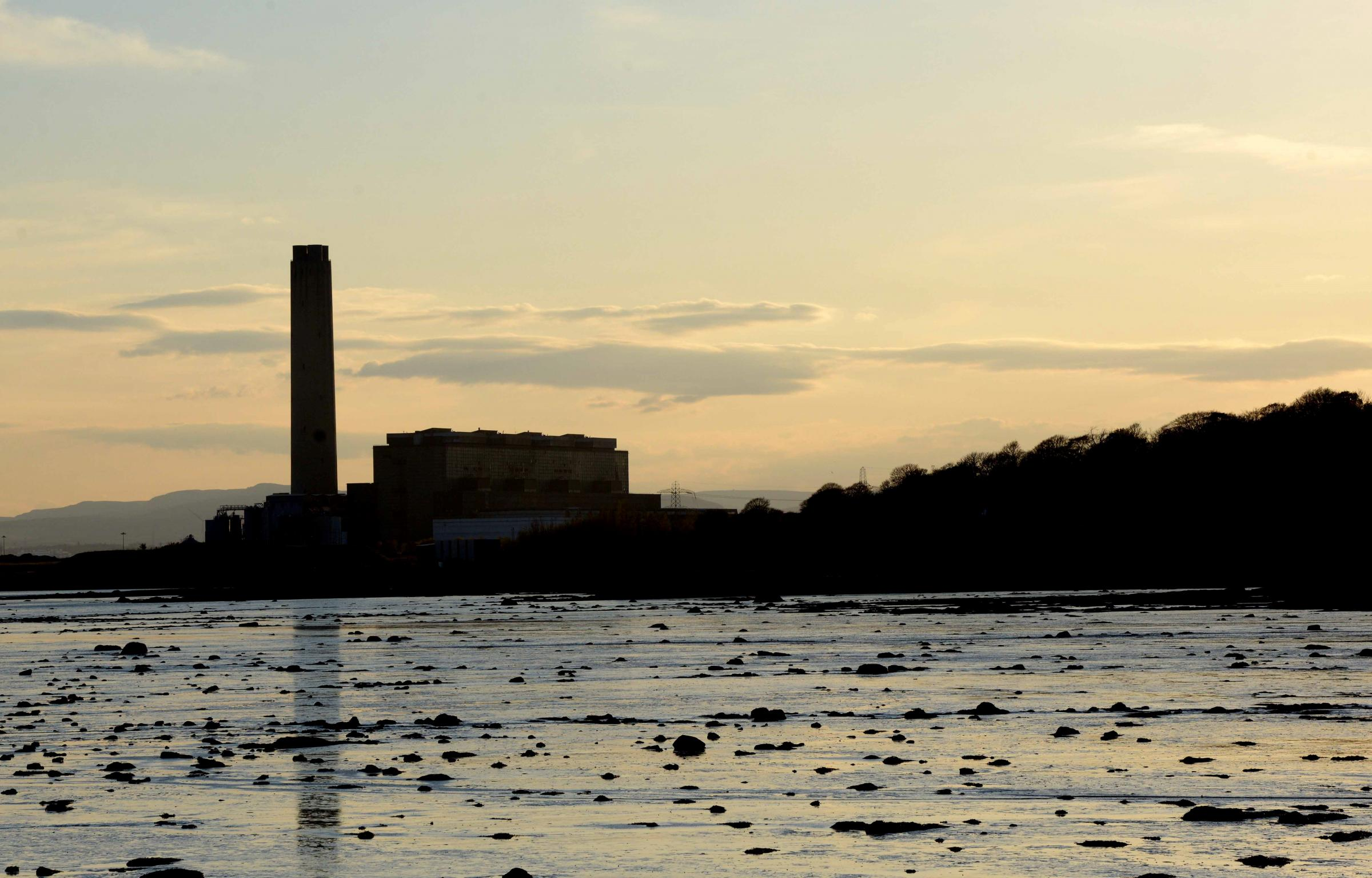 The lagoon serviced Longannet Power Station and contains ash slurry pumped out of it.