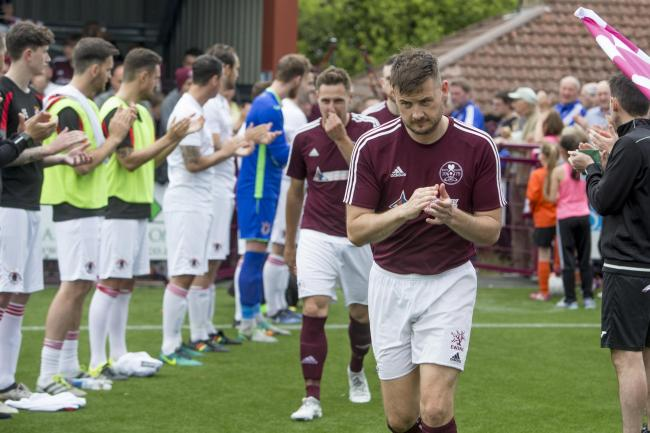 Thomas Courts leads out his Kelty title winners. Photo: Craig Brown.