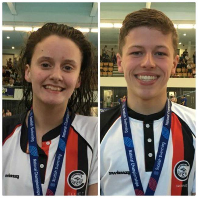 Ellie Turner and Greig Rowe swam for Scotland's Youth Development Squad in Portugal.
