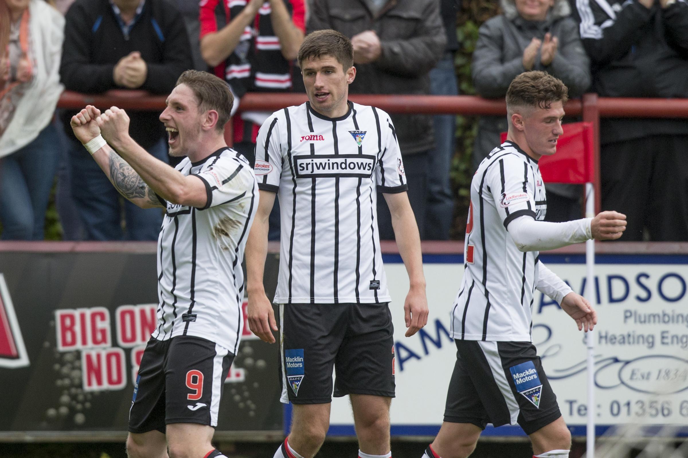 The Pars players celebrate on Saturday. Photo: Craig Brown.