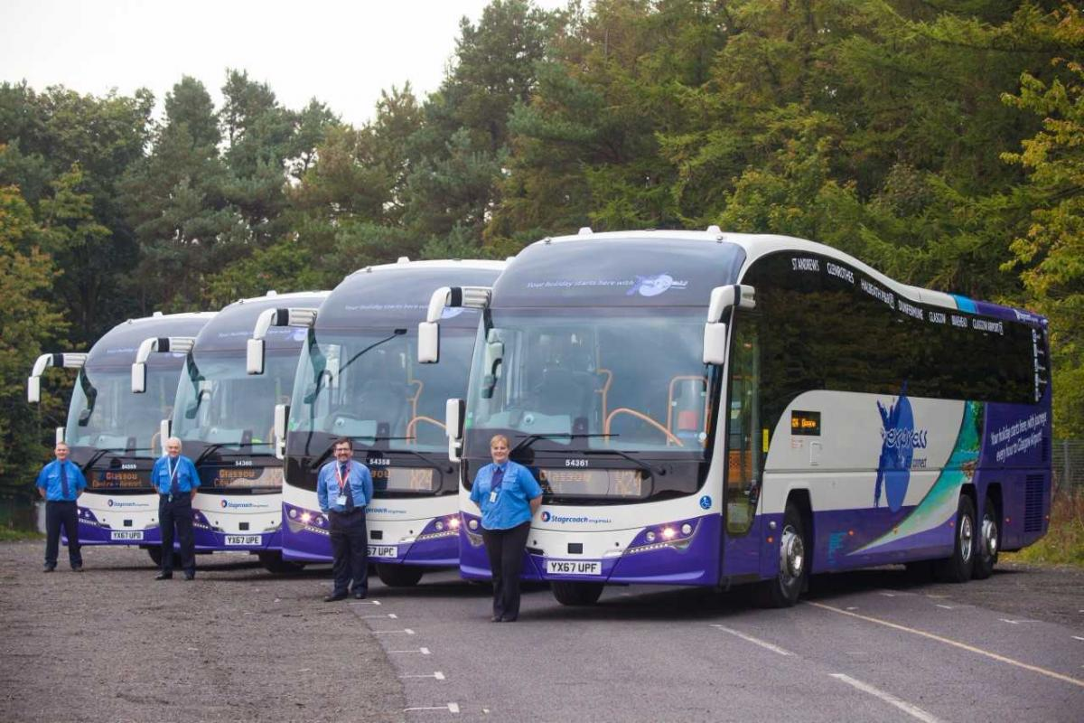 New Buses On Express Route Between Dunfermline And Glasgow Airport