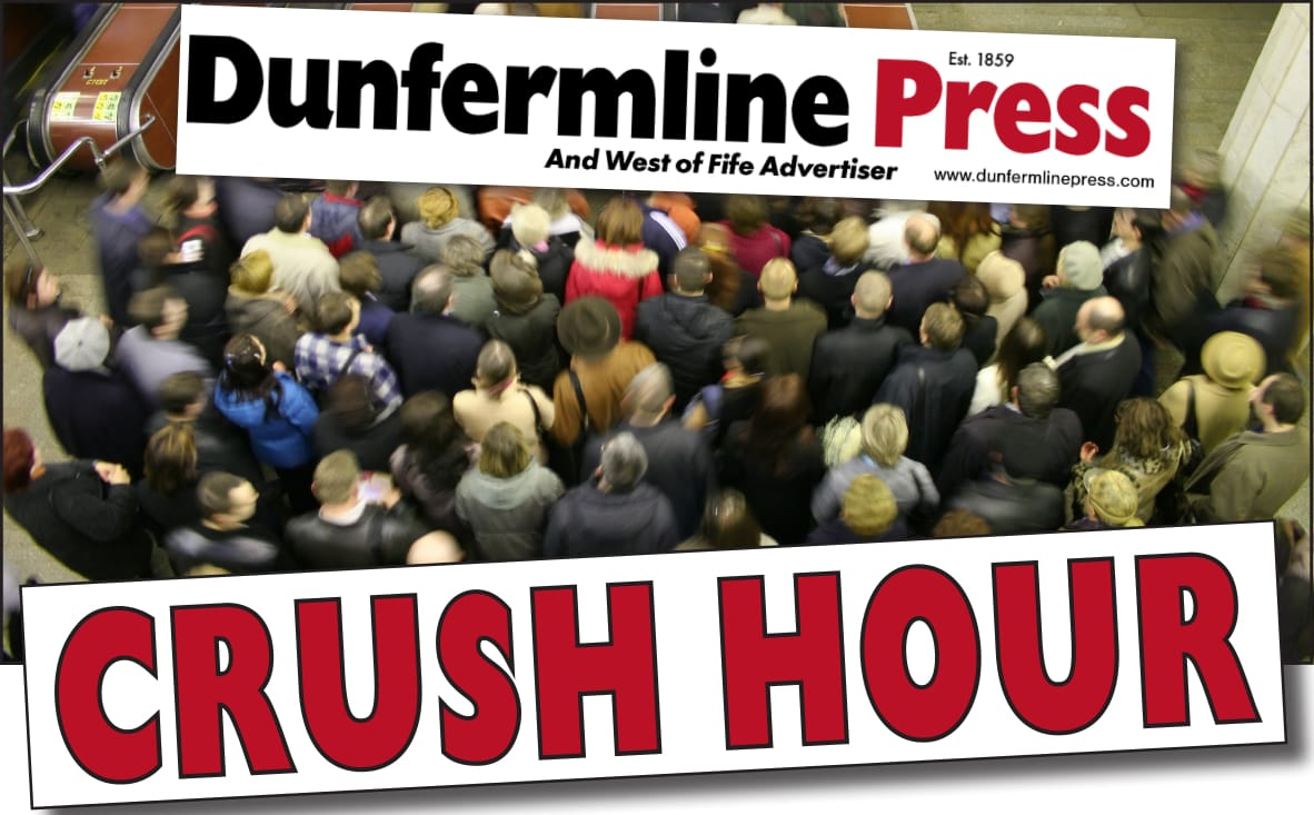 Dunfermline Press: Crush hour logo wide