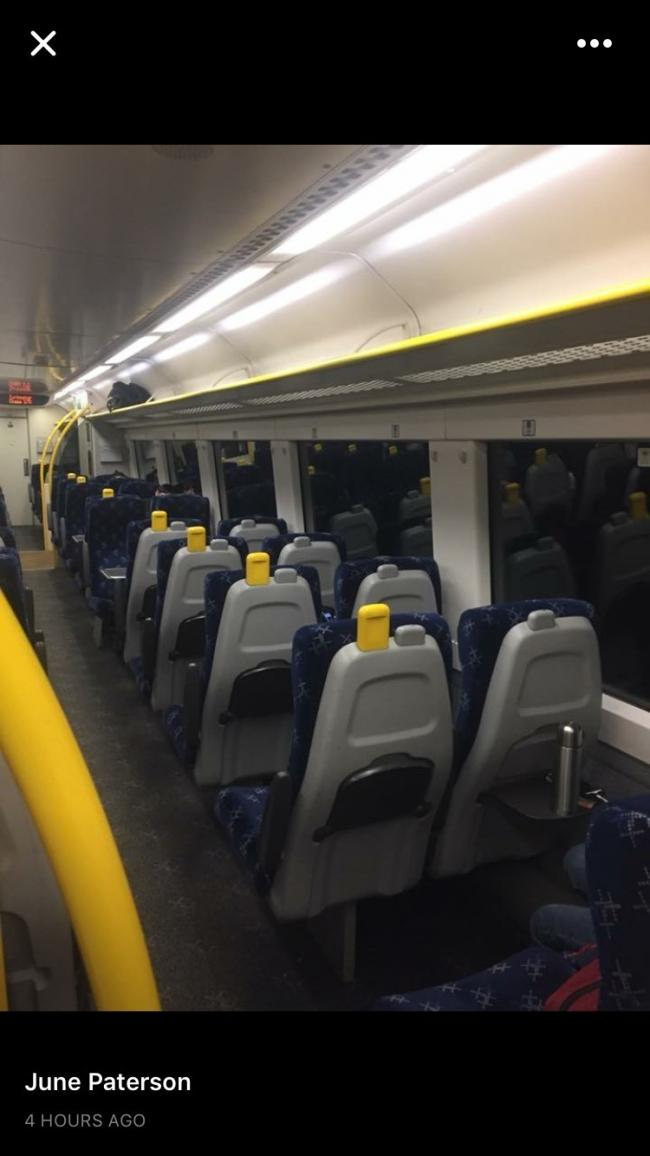 This photo, from June Paterson, was taken on the 7.09 Dundee to Edinburgh service, after it left Kirkcaldy on January 4 at around 7.57am. It then skipped the next four stations despite there being hardly any passengers on board.