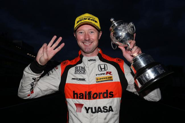Three-time champion Gordon Shedden has shocked the British Touring Car Championship by announcing he won't compete in 2018. Photo: Halfords Yuasa Racing.