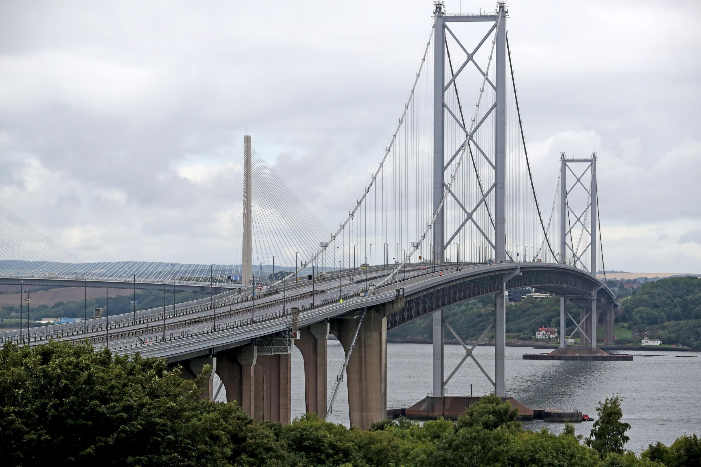 The Forth Road Bridge has reopened to public transport.