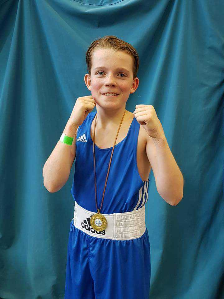 Harrison Baxter won his second Boxing Scotland title in a row.