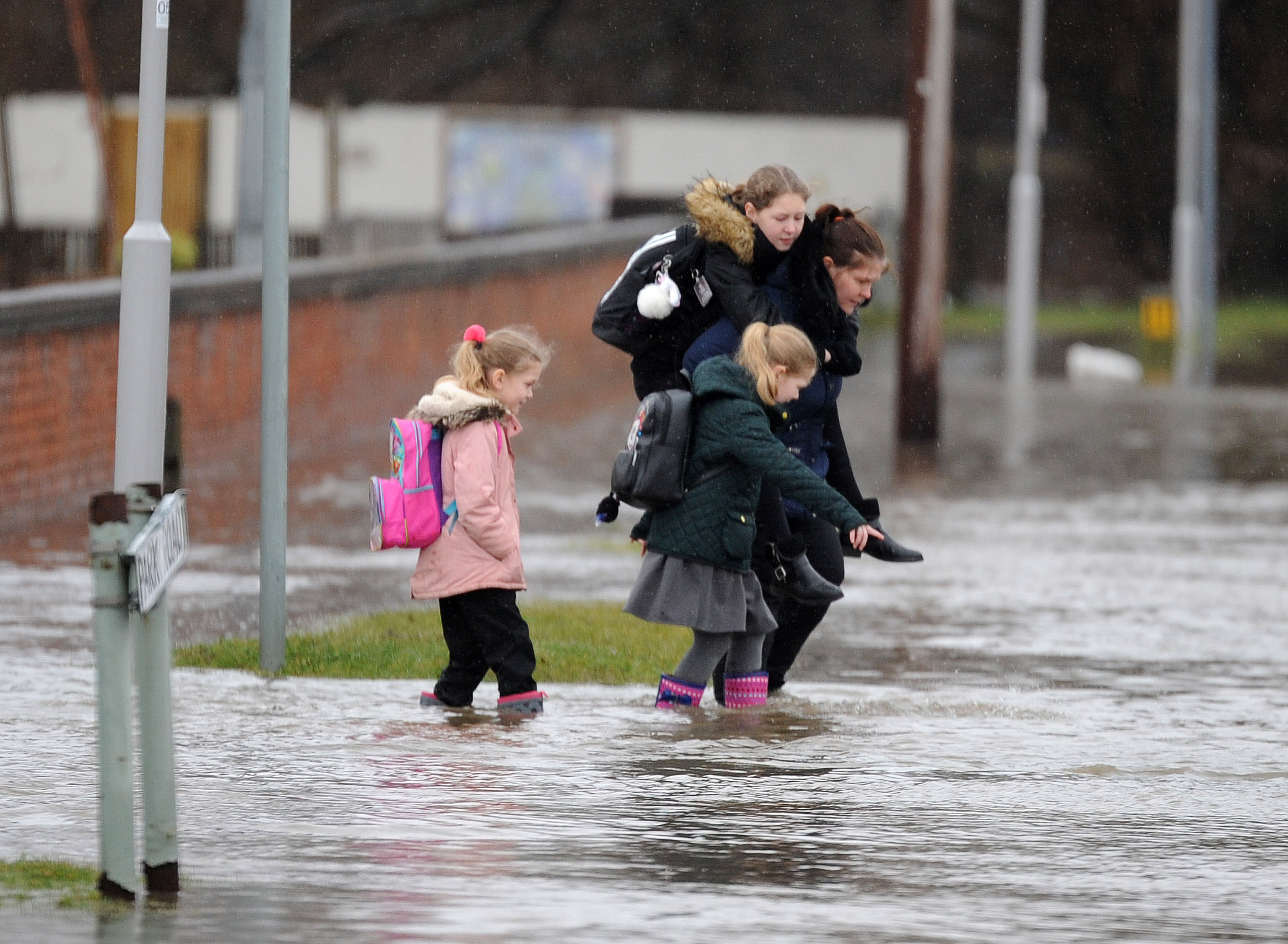 Hopes are high that scenes like this, Park Road Primary school kids wading through floods earlier this year, will be a thing of the past in Rosyth.