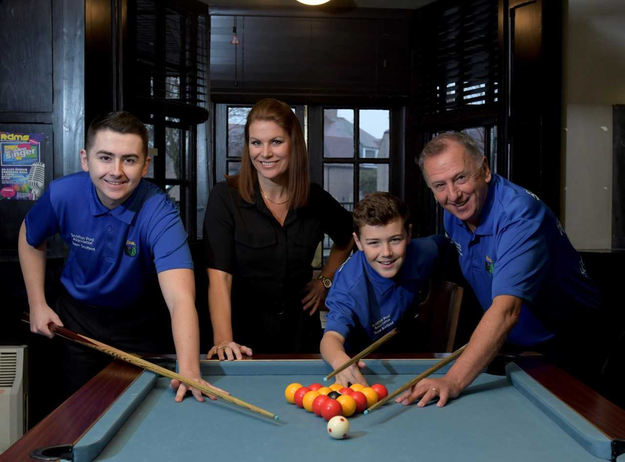 Michaela Tabb and Ross McInnes with their kids Morgan and Preston.