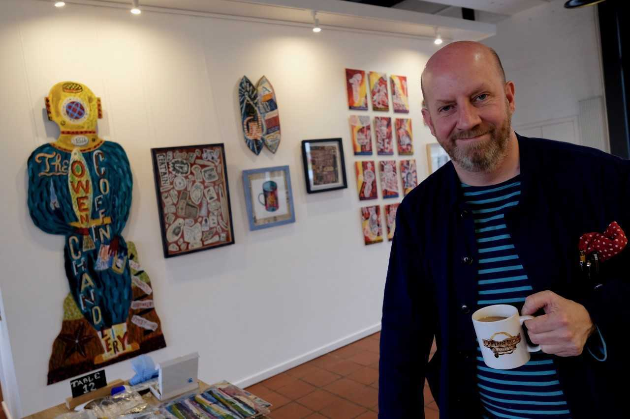 Jonny Hannah's exhibition is at Fire Station Creatrive in Dunfermline. Photo: Jim Payne.