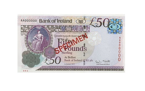 Fake Bank of Ireland £50 notes are in circulation around Scotland. Photo: Bank of Ireland