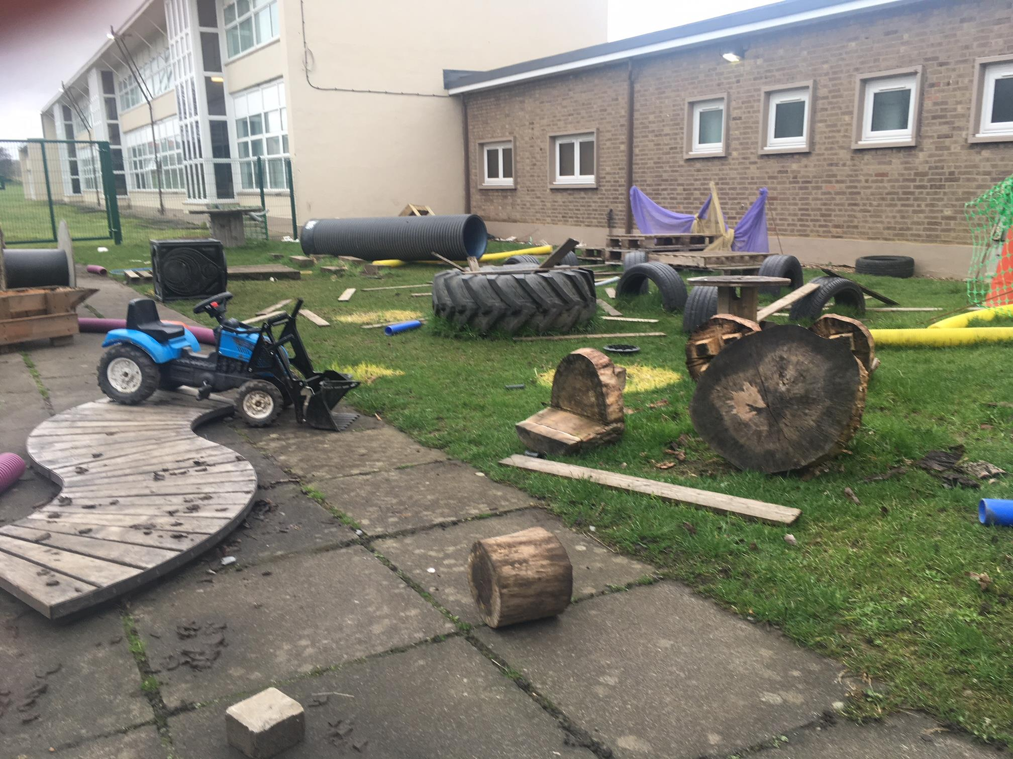 Destruction at Camdean Nursery. Photo: shared by Camdean PS