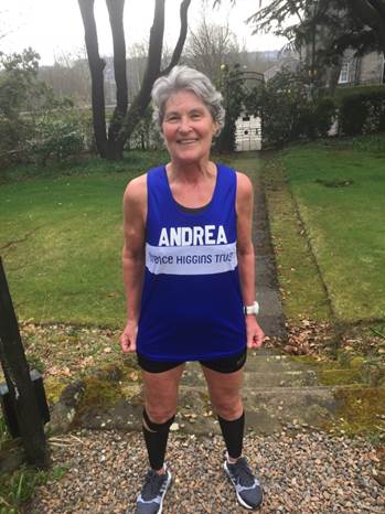 Andrea Gellan will raise funds for the Terrence Higgins Trust at Sunday's London Marathon.