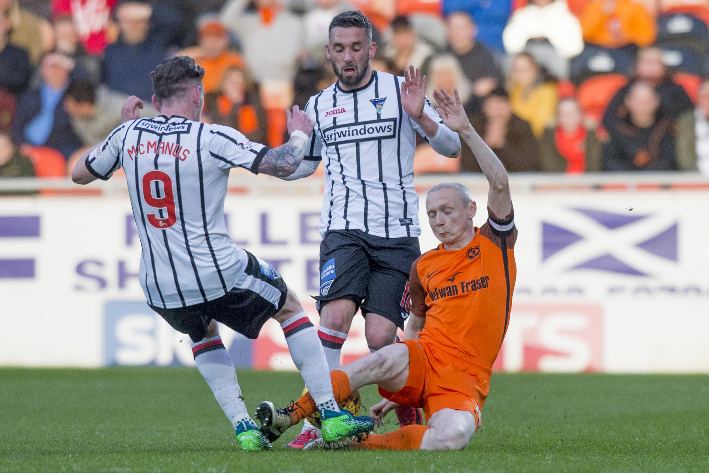 Willo Flood (right) has signed for Dunfermline after leaving Dundee United. Photo: Craig Brown.