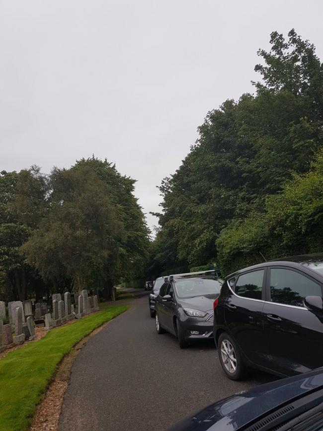'I was threatened at Dunfermline Cemetery'