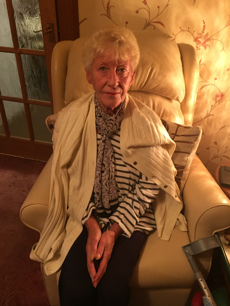 Sandra McDougall was hit by a 4x4 in Crossgates and spent 10 days in hospital.