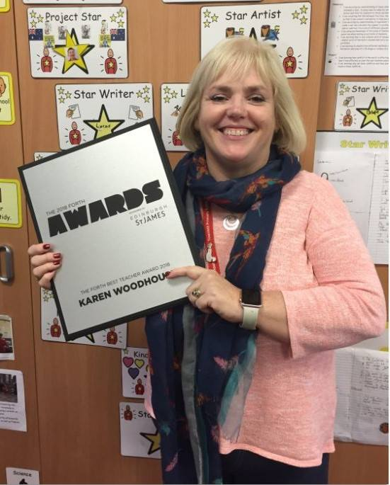 Townhill's Karen Woodhouse receives the Best Teacher Award