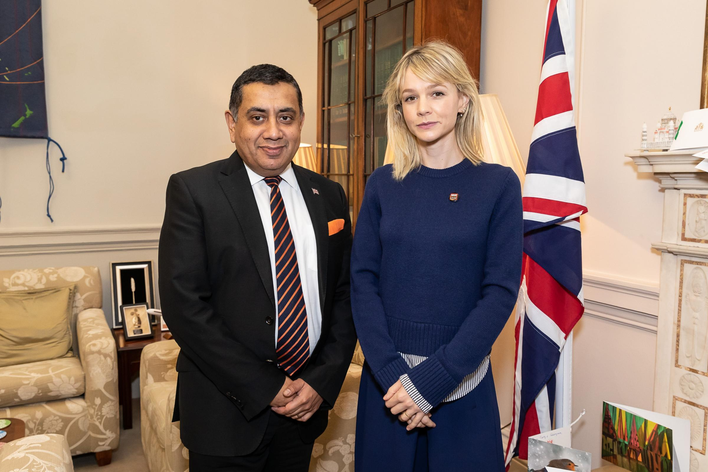 Carey Mulligan visits Foreign Office