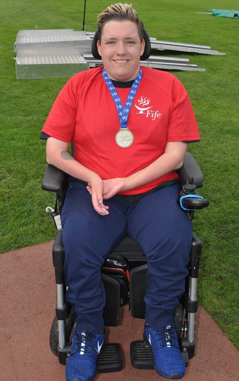 Kieran Steer is back in the Scottish squad. Photo: Disability Sport Fife.