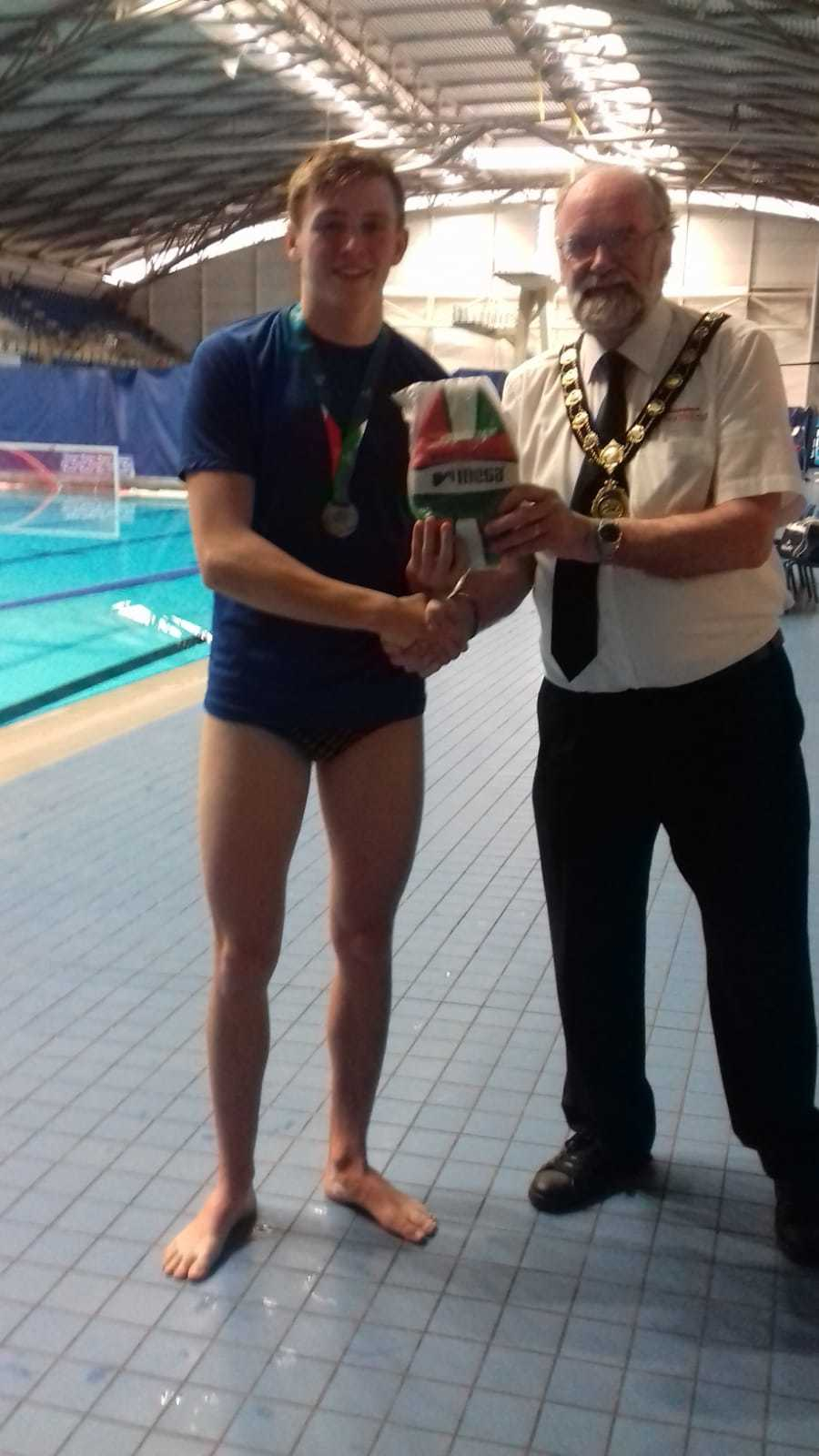 Harry Gray was voted MVP in Saltires' final victory. Photo courtesy of Dunfermline Water Polo Club.