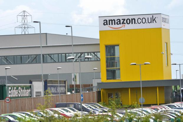 The road is near Amazon's plant in Dunfermline