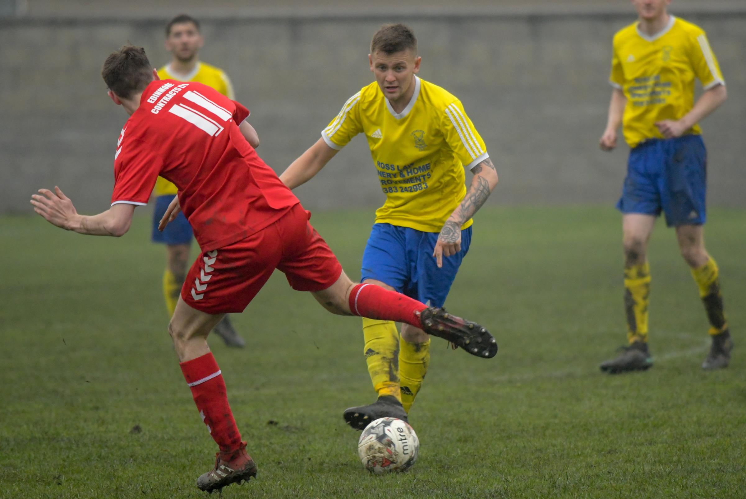 Crossgates Primrose remain on target for a place in the East of Scotland Premier League. Photo: Jim Payne.